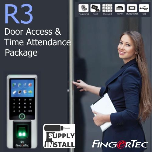 Fingertec R3 Fingerprint Door Access & Time Attendance System with