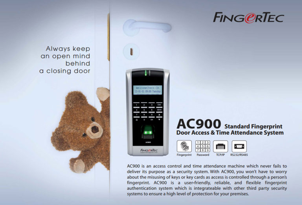 Fingertec ac900 Installation Manual